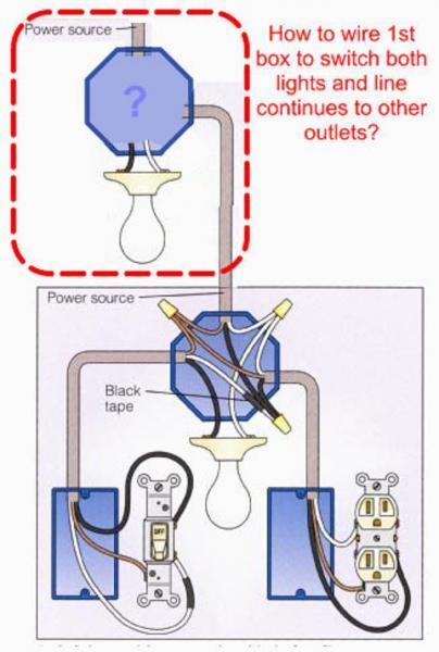 diagram single light switch wiring diagram power into
