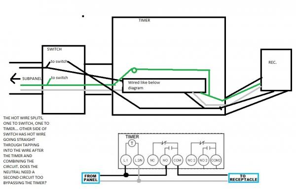 Wiring Diagram For Pool Pump With Timer And Service Switch
