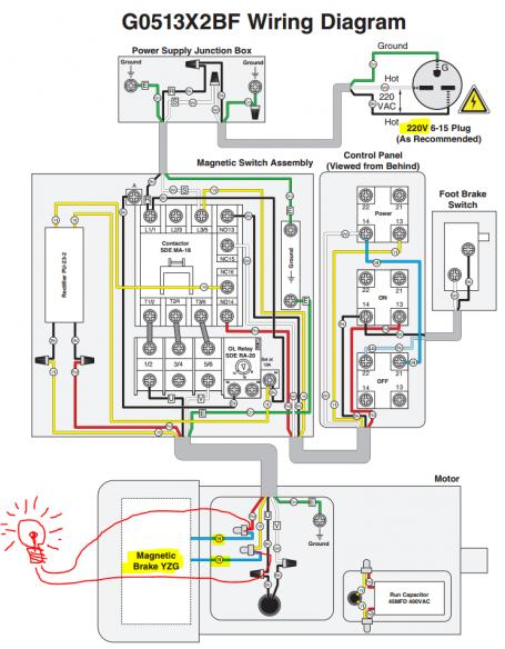 2 way switch wire diagram telephone 66 block wiring 220v bandsaw, hooking up indicator light (to wires that read 130v) - doityourself.com community ...