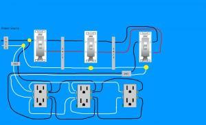 Need diagram help on easiest way to wire split receptacles