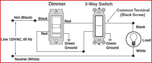 three way dimmer wiring