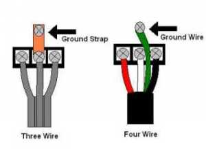 3 prong dryer cord head with a 4 wire cord where does the