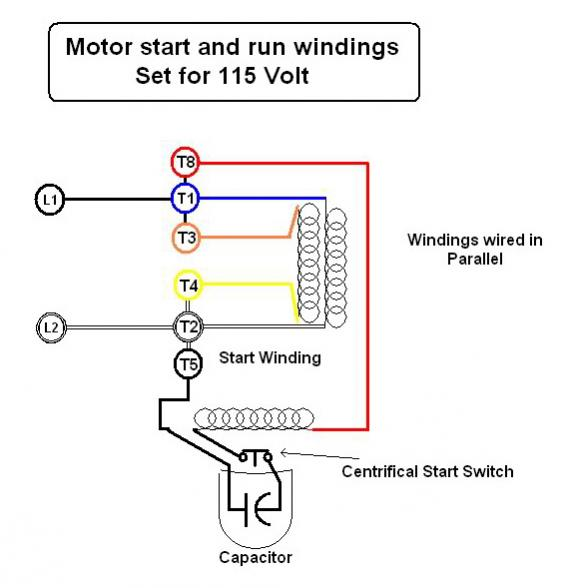 220 Volt Single Phase Capacitor Start Motor Wiring Diagram Emerson Electric Motor Wiring Help Doityourself Com