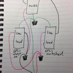 Electrical Outlet Wiring Diagram 2 Gang Box With Duplex Gfci - Doityourself.com Community Forums