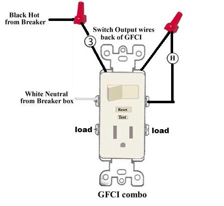 wiring diagram for a switched outlet onstar leviton switch/gfi combo - doityourself.com community forums