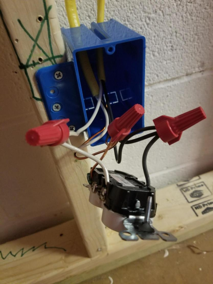 medium resolution of wiring new outlets in the middle of the wire run doityourself com ground like the picture