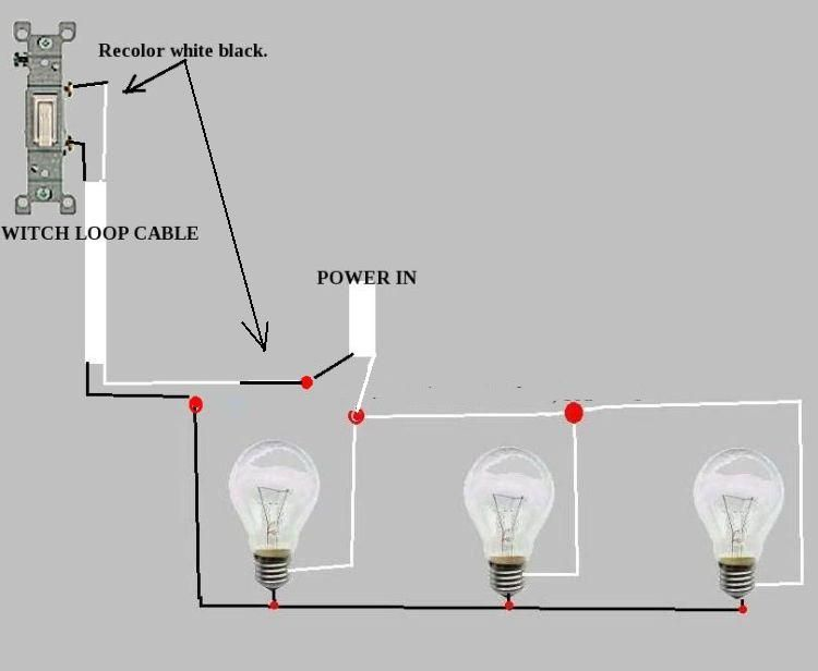 Light Fan 3 Way Wiring Diagram How To Wire Landscape Lights In Series On A Switch