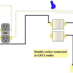Wiring A Switched Outlet Diagram Peterson Trailer Lights Double Box Issues Gfci And Rocker Switch In The Dual