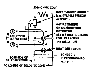 diagram of wiring a photoelectric smoke detectors