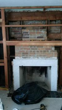 Stacked stone fireplace surround on this? How