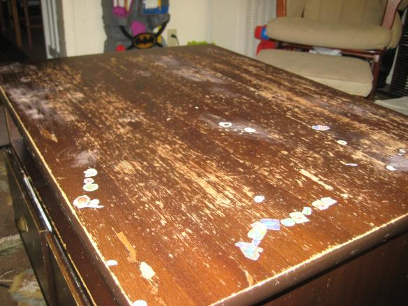 how to refinish a table top. Black Bedroom Furniture Sets. Home Design Ideas