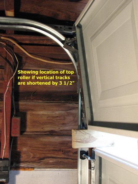 What will shortening vertical tracks do to door operation  DoItYourselfcom Community Forums