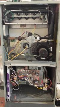 Continuous fan, no heat: American Standard Freedom90 ...