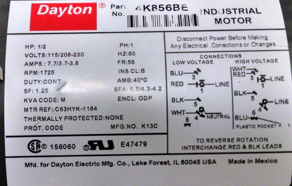 Dayton Electric Motor Wiring Diagram In Addition Dayton Motor Control