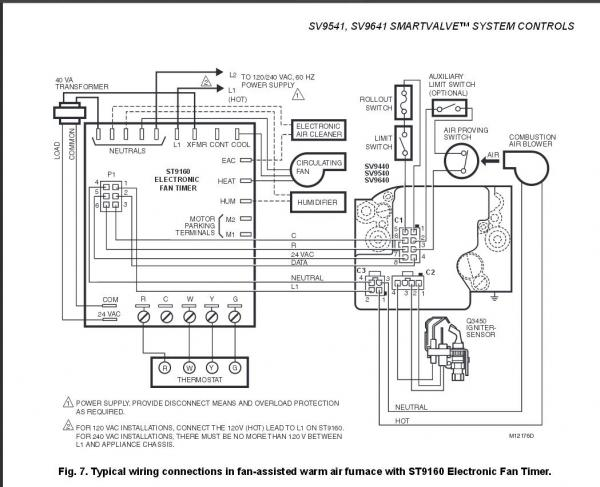 honeywell fan limit switch wiring diagram wiring diagram how to install and wire the honeywell l4064b bination furnace 12v bosch regulator wiring diagram