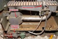 Williams wall heater: flame in unexpected place ...