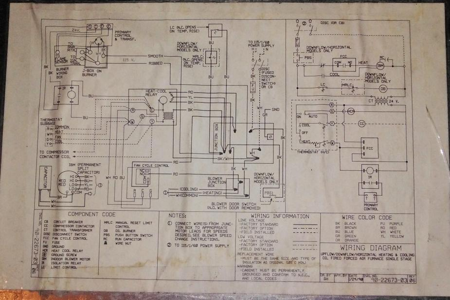 Oil Furnace Wiring Diagram Besides On Oil Burner Thermostat Wiring