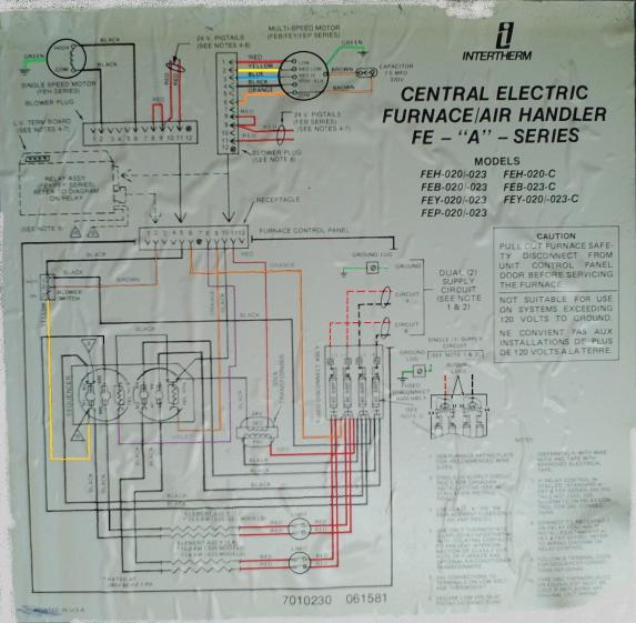 Furnace Wiring Diagram Also Nordyne Electric Furnace Wiring Diagram
