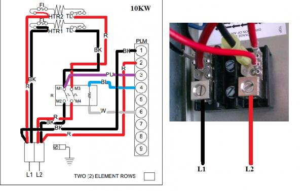 Amana Hvac Wiring Diagrams Wiring To Heat Strip For Heat Pump System Doityourself