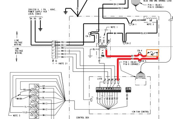 Trane to Honeywell tstat with unusual wiring