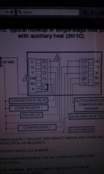 Thermostat Wiring Diagram Also Honeywell Heat Pump Thermostat Wiring