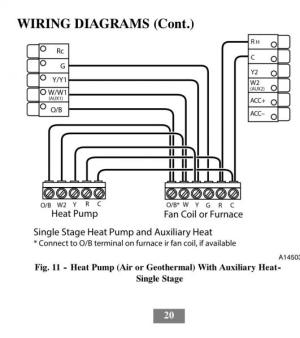 Carrier Cor Thermostat Wiring Diagram  Wiring Diagram and Schematic