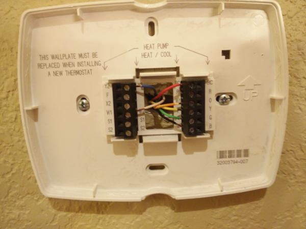 Heat Pump Powered Electric Forced On Thermostat Wiring For Electric