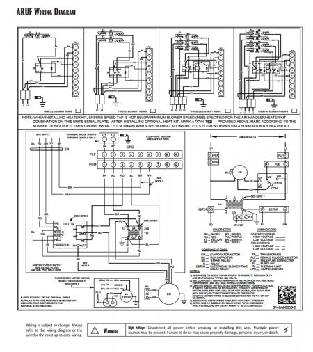 Goodman Aruf 14 Wiring Diagram For Thermostat Goodman Heat