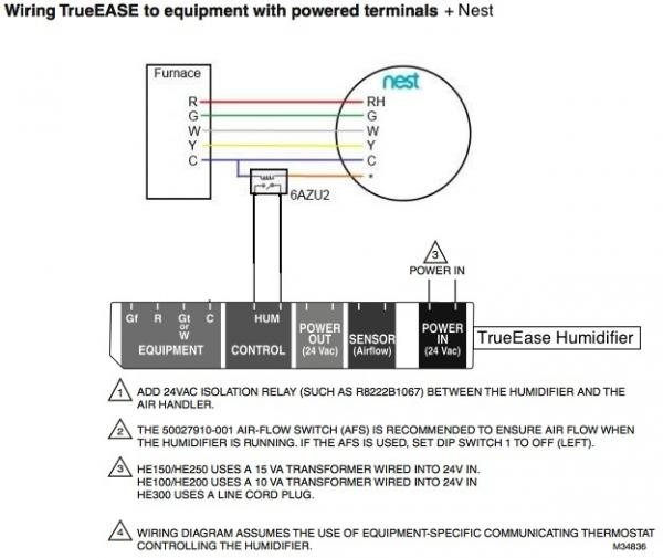 nest humidifier wiring diagram 49cc mini chopper manual trueease he250 + trane xv90 - doityourself.com community forums