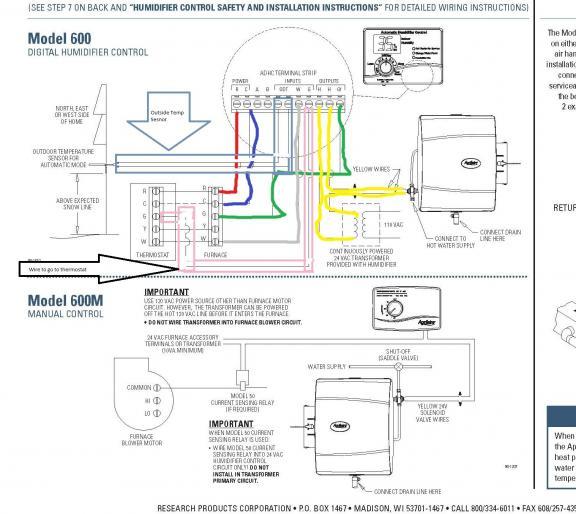 aprilaire 500 wiring diagram somurich com Aprilaire 500M Wiring to Carrier Aprilaire 500 Wiring