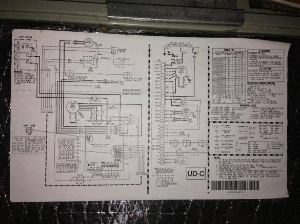 american standard furnace wiring