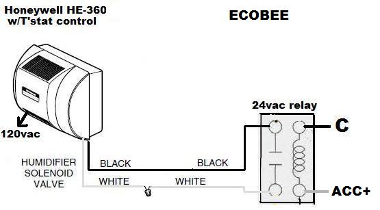 Connect powered humidifier to Ecobee 4 thermostat