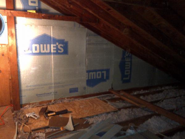 Using 14 Inch Foam Board Over Batting Of Interior Wall In