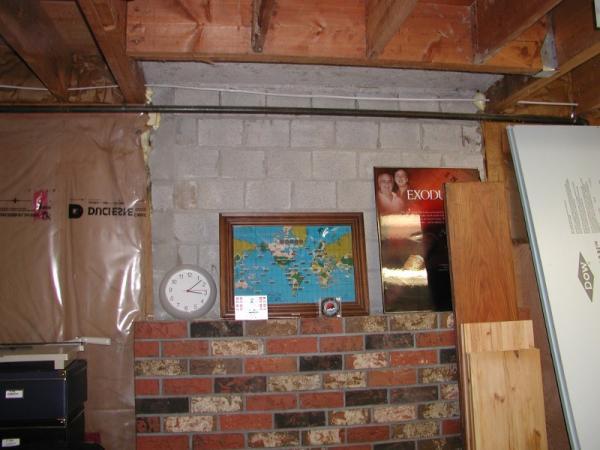 Blue foam board insulation over fireplace  DoItYourselfcom Community Forums