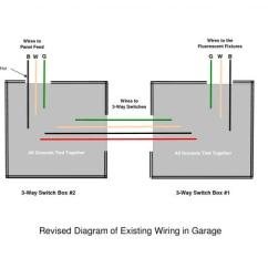 Wiring Diagram For Ceiling Light And Switch Honeywell Y Plan Need Help To Install Sensor Overhead Garage Fluorescent Lights - Doityourself.com ...