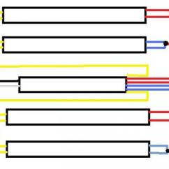 T12 Fluorescent Ballast Wiring Diagram Ibanez Hsh 2 Ballasts To 1 T8 Running 4 Bulbs - Doityourself.com Community Forums