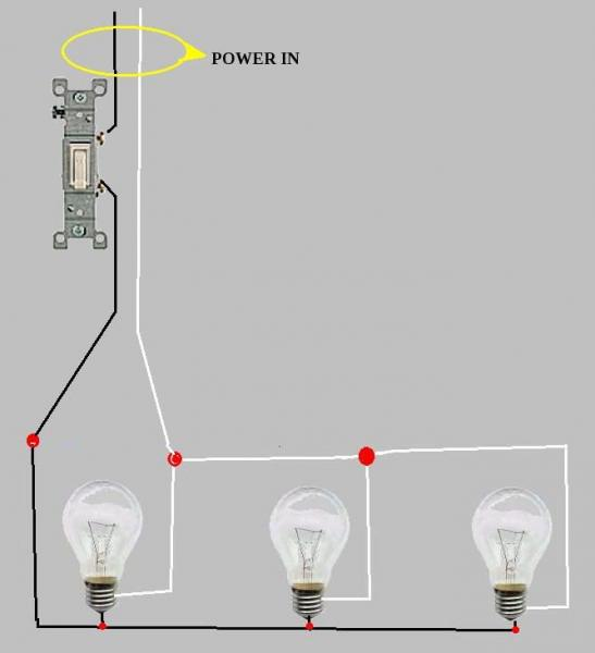 parallel lights wiring diagram circuit breaker diagram wiring, Wiring diagram