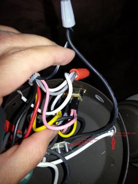 Ceiling fan fan works light does not work