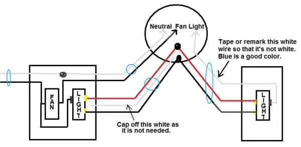 wiring a light and exhaust fan