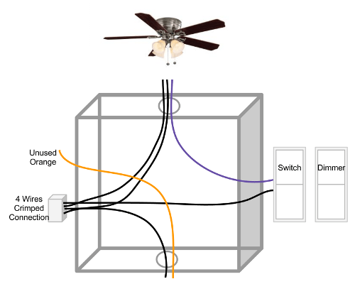 How To Wire A Ceiling Fan With Light Wall Switch | Integralbook.com