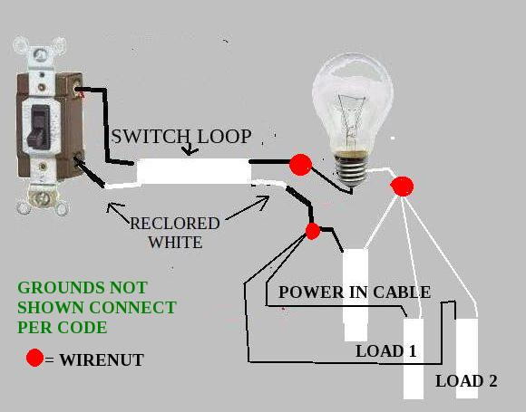 wiring diagram for house lighting circuit ez go textron battery charger lights and receptacles on same - new to doityourself.com community forums