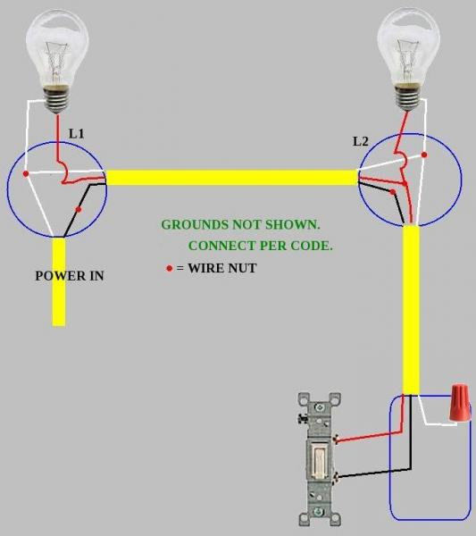 Two Lights One Switch Wiring Diagram: Pretty Wire Two Lights To One Switch Images - Electrical Circuit ,Design