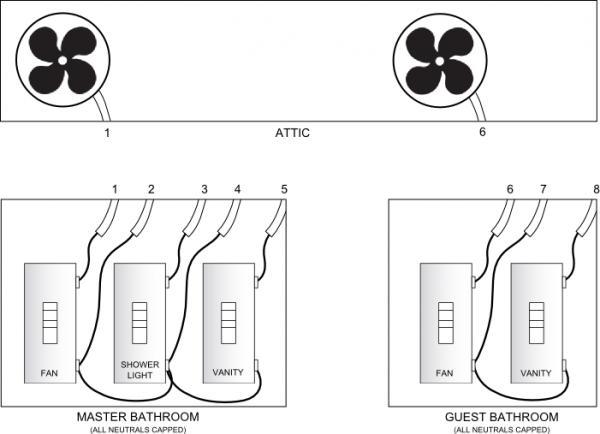 wiring a light in bathroom