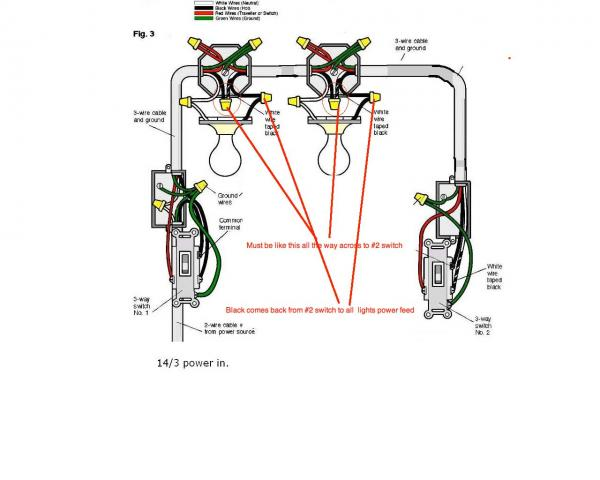 Wiring Diagram For 3 Way Switch Two Way Lighting Circuit