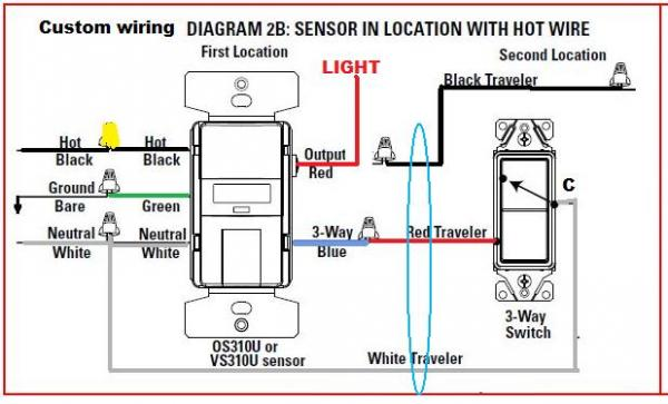 Wiring Diagram For 277v Lighting Replacing 3way Switch With Motion Sensor Doityourself