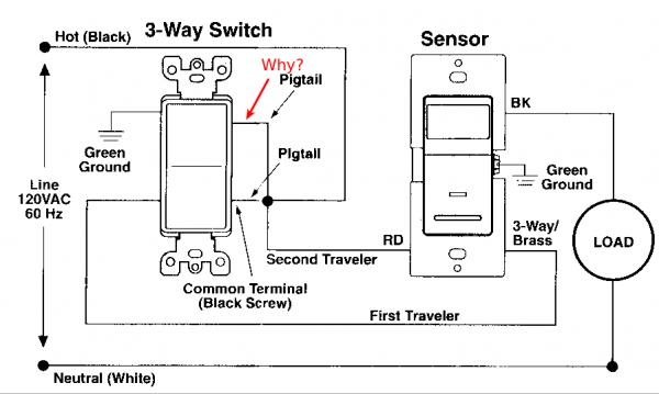 wiring motion sensor switch 3 way