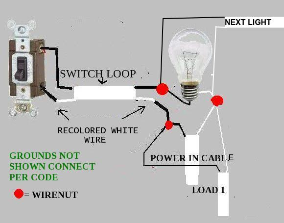 mobile home electrical wiring diagram 97 club car adding wall switch and another ceiling light (switch loop controlling 2 fixtures - doityourself ...