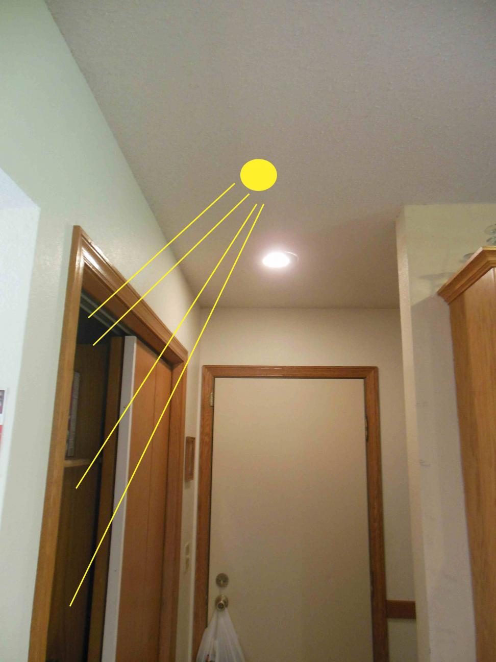 kitchen lights fixtures long light add ceiling to illuminate into pantry - track ...