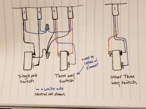 Replacing 3Way Switch with Dimmer  Strange Wiring