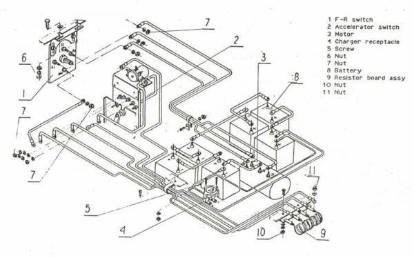 36 Volt E Z Go Wiring Diagram Melex Golf Cart Resistors Location Doityourself Com